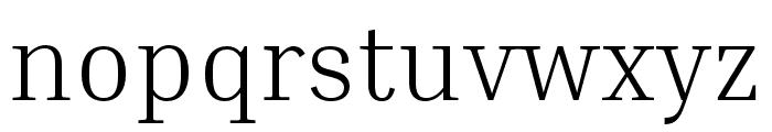 Inria Serif Light Font LOWERCASE