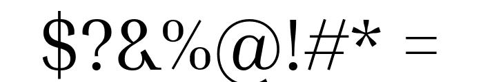 Inria Serif Regular Font OTHER CHARS