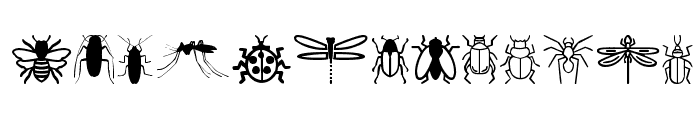 Insect Icons Font UPPERCASE