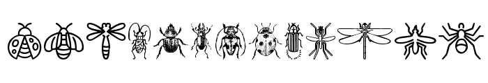 Insect Icons Font LOWERCASE