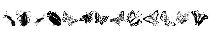 Insects Font UPPERCASE