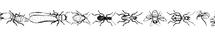 InsectsMK Font LOWERCASE