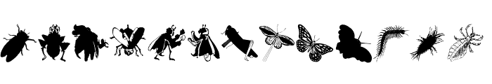Insects Font LOWERCASE