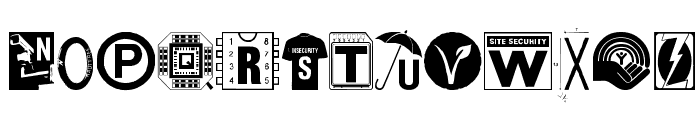 Insecurity Font UPPERCASE