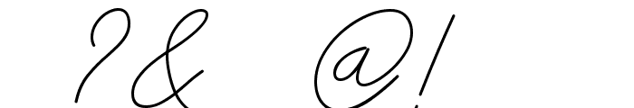 Insta Story Signature Font OTHER CHARS