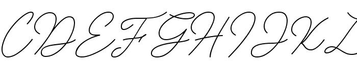 Insta Story Signature Font UPPERCASE