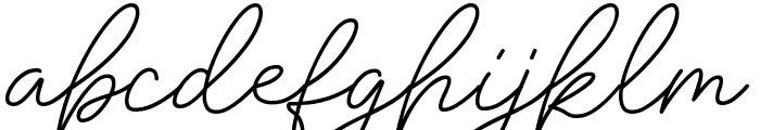 Insta Story Signature Font LOWERCASE