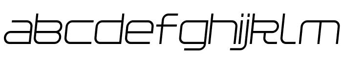 Installer Regular Italic Font LOWERCASE