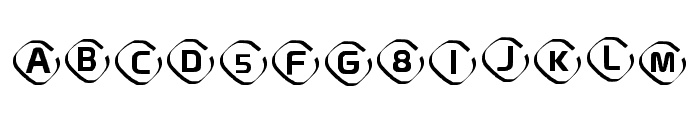 Instanovelist Regular Font UPPERCASE