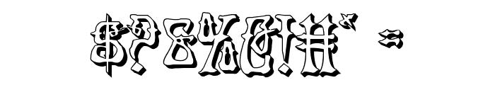 Instant Zen 3D Font OTHER CHARS