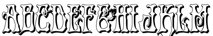 Instant Zen 3D Font UPPERCASE