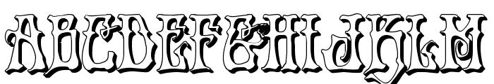 Instant Zen 3D Font LOWERCASE