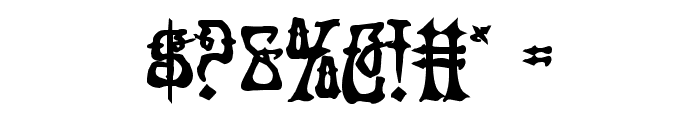 Instant Zen Bold Font OTHER CHARS