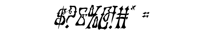 Instant Zen Condensed Italic Font OTHER CHARS