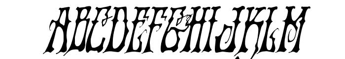Instant Zen Condensed Italic Font UPPERCASE