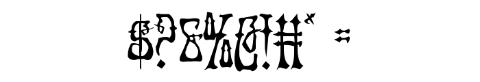 Instant Zen Condensed Font OTHER CHARS