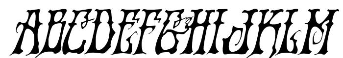 Instant Zen Drop Italic Font UPPERCASE