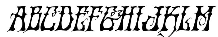 Instant Zen Drop Italic Font LOWERCASE