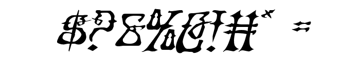 Instant Zen Expanded Italic Font OTHER CHARS