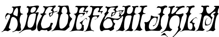 Instant Zen Expanded Italic Font UPPERCASE