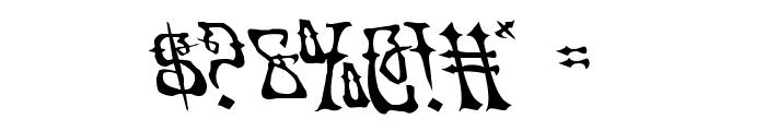 Instant Zen Leftalic Font OTHER CHARS