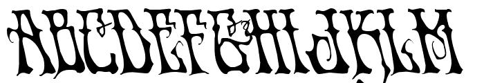 Instant Zen Leftalic Font UPPERCASE