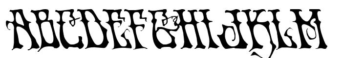 Instant Zen Leftalic Font LOWERCASE