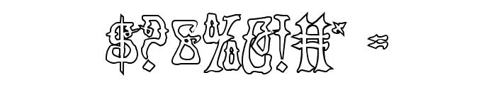 Instant Zen Outline Font OTHER CHARS
