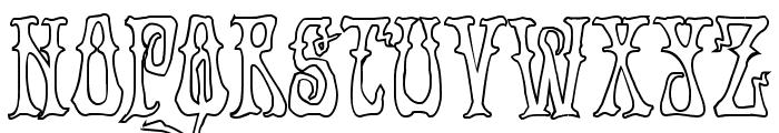 Instant Zen Outline Font UPPERCASE