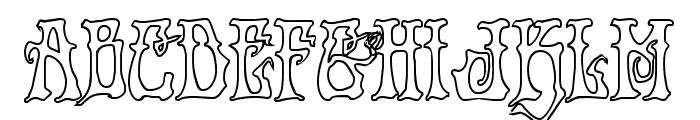 Instant Zen Outline Font LOWERCASE