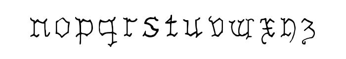 Insular Fraktur Regular Font LOWERCASE