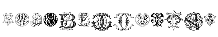 Intellecta Monograms Random Samples Eleven Font UPPERCASE