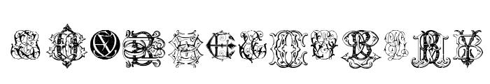 Intellecta Monograms Random Samples Eleven Font LOWERCASE