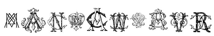 Intellecta Monograms Random Samples Five Font OTHER CHARS