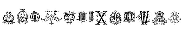 Intellecta Monograms Random Samples Five Font UPPERCASE