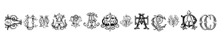 Intellecta Monograms Random Samples Five Font LOWERCASE