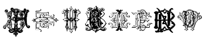 Intellecta Monograms Random Samples Four Font OTHER CHARS