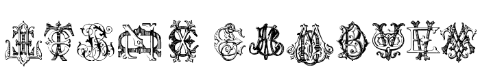 Intellecta Monograms Random Samples Four Font UPPERCASE