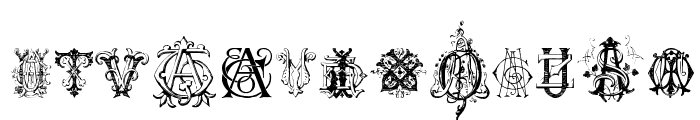 Intellecta Monograms Random Samples Nine Font UPPERCASE