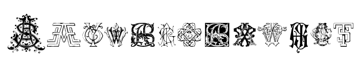 Intellecta Monograms Random Samples Nine Font LOWERCASE