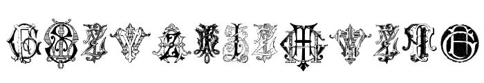 Intellecta Monograms Random Samples Seven Font UPPERCASE