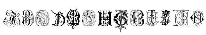 Intellecta Monograms Random Samples Seven Font LOWERCASE