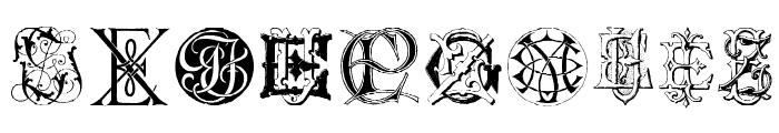 Intellecta Monograms Random Samples Six Font OTHER CHARS