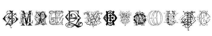 Intellecta Monograms Random Samples Six Font UPPERCASE