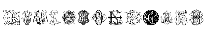 Intellecta Monograms Random Samples Six Font LOWERCASE
