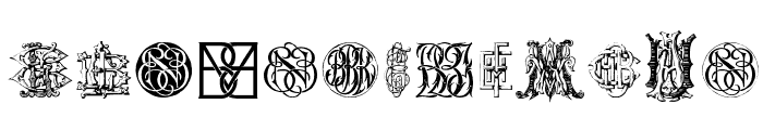 Intellecta Monograms Random Samples Ten  Font LOWERCASE