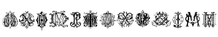 Intellecta Monograms Random Samples Three.vfb Font UPPERCASE