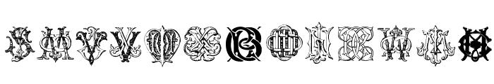 Intellecta Monograms Random Samples Three.vfb Font LOWERCASE