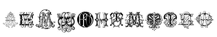 Intellecta Monograms Random Samples Two Font UPPERCASE