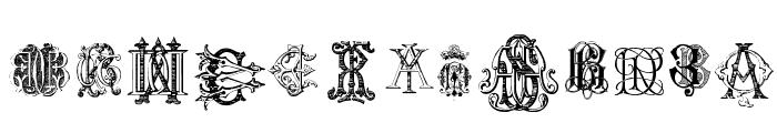 Intellecta Monograms Random Samples Two Font LOWERCASE